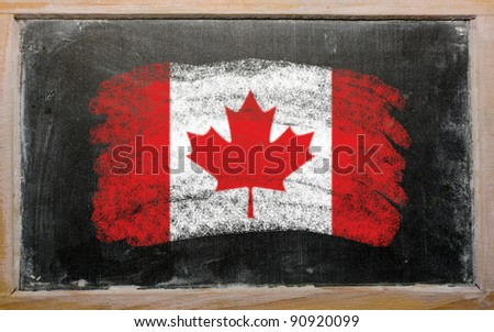 Canada - national flag and outline map