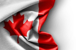 Flag of Canada on white background