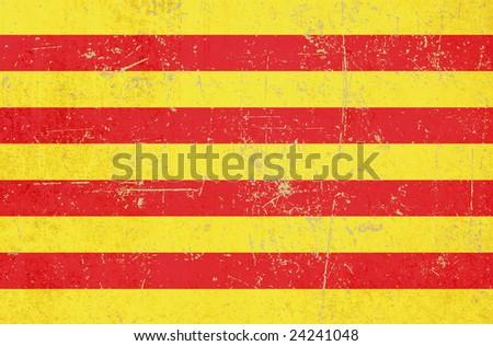 flag of catalonia grunge