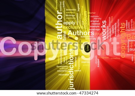 Flag of Chad, national country symbol illustration wavy fabric national copyright law