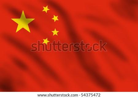 Flag of China, 3d illustration