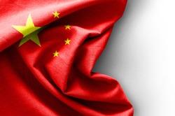 Flag of China on white background