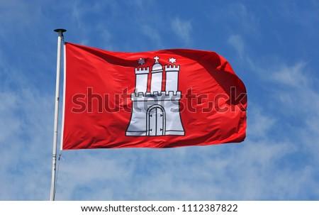 flag of city state hamburg #1112387822