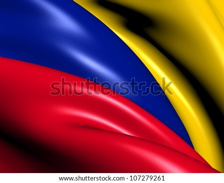 Flag of Colombia. Close Up.