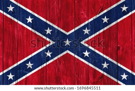 Flag of Confederate States of America on wooden background Сток-фото ©