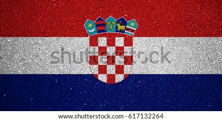 Flag of Croatia #617132264
