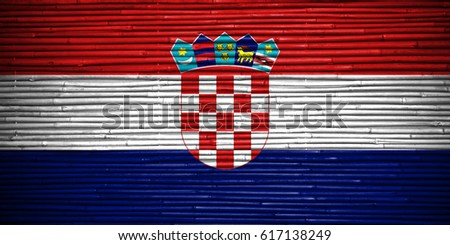 Flag of Croatia #617138249