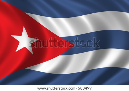 Flag of Cuba waving in the wind