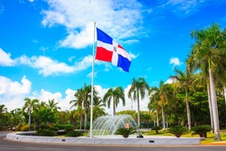 Flag of Dominican Republic, Punta Cana