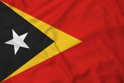 Flag of East Timor with texture