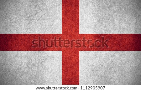 flag of England or English banner on rough pattern texture #1112905907
