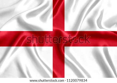 Flag of England silk #1120079834