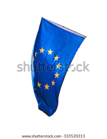Flag of Europe isolated over white background #333520313