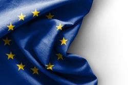 Flag of Europe on white background