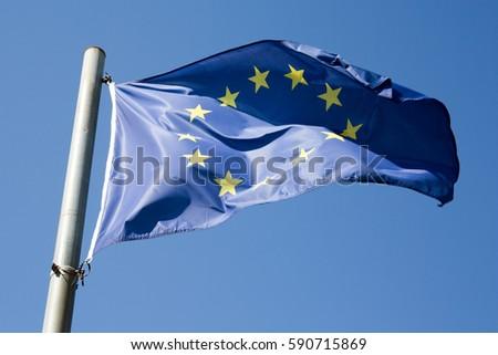 flag of europe union closeup #590715869