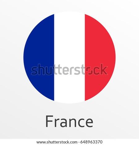 France Flag Set French National Symbol Vector Illustration Ez