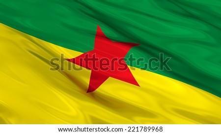 Flag of French Guiana. #221789968