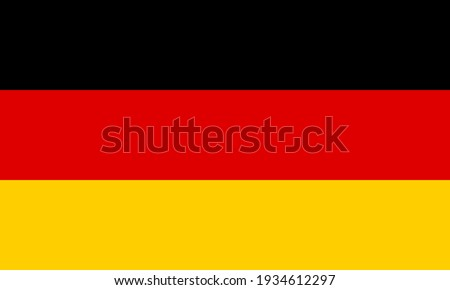 Flag of Germany. Accurate proportion and official colors. Photo stock ©