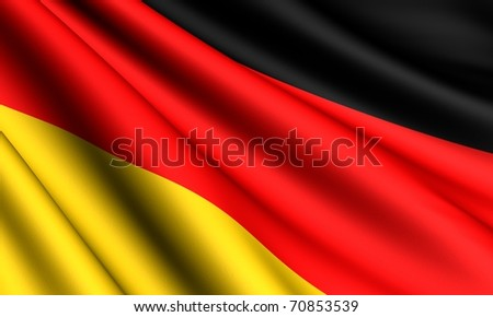 Flag of Germany. Close up.