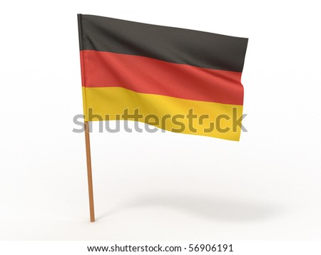 Flag of Germany. 3d - stock photo