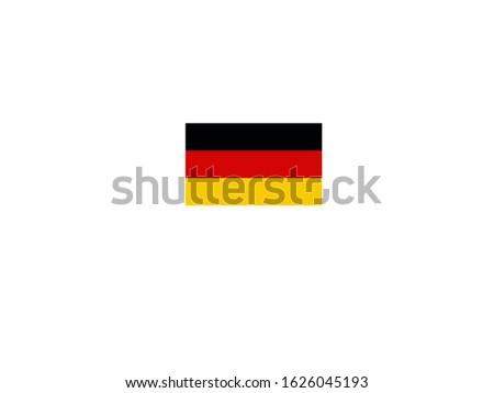 Flag of Germany, die deutsche Flage, nemačka zastava Foto d'archivio ©