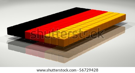Flag of Germany, Digitally generated 3d image.