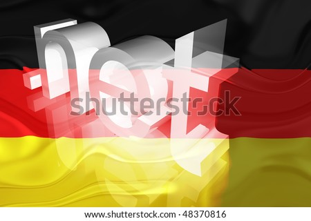 Flag of Germany, national country symbol illustration wavy net domain website