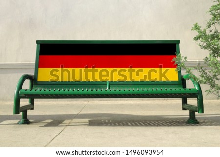 Flag of Germany on bench. Germany Flag on bench advertisement #1496093954