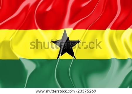 Flag of Ghana , national country symbol illustration