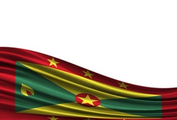flag of Grenada isolated on white background with place for your text.
