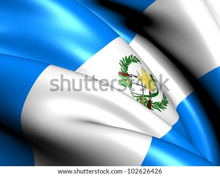 Flag of Guatemala. Close Up.
