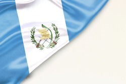 Flag of Guatemala: white background and place for text