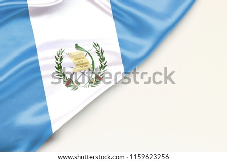 Flag of Guatemala: white background and place for text #1159623256