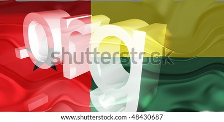 Flag of Guinea Bissau, national country symbol illustration wavy org organization website