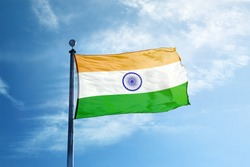 Flag of India on the mast