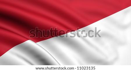Flag Of Indonesia / Monaco
