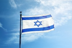 Flag of Israel on the mast