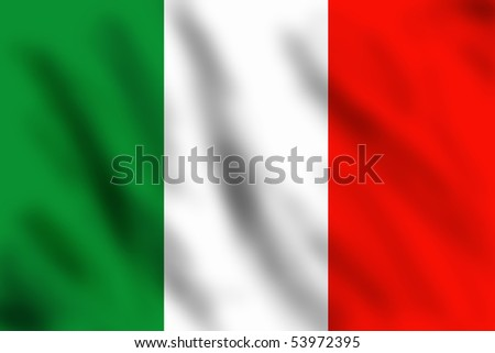 Flag of Italy, 3d illustration