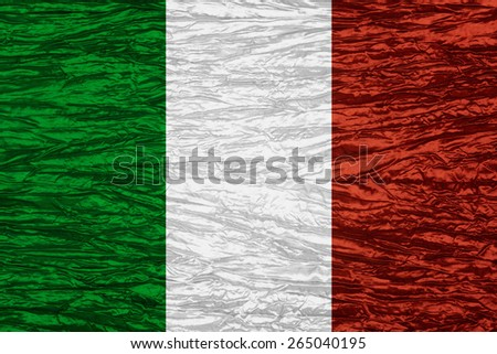 flag of Italy or Italian banner on canvas texture