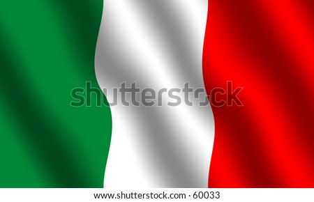 Flag of Italy. Waving effect