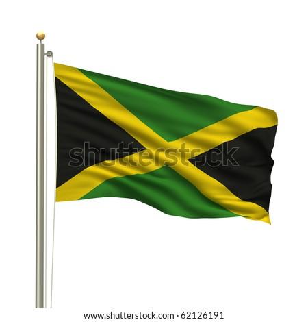 jamaican flag pole - photo #37