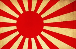 Flag of Japanese Navy & Army dirty old grunge flag background
