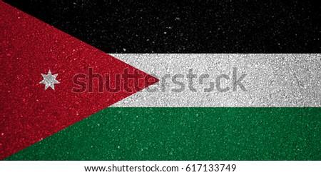 Flag of Jordan #617133749