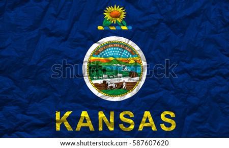 flag of kansas state usa ez canvas