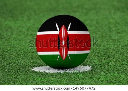 Flag of Kenya on Football Kenya Flag on soccer ball