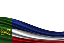 flag of Khakassia isolated on white background with place for your text.