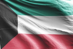 Flag of Kuwait waving. National Kuwait Flag for Independence day.