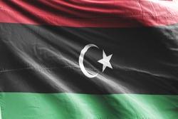 Flag of Libya waving. National Libya Flag for Independence day.