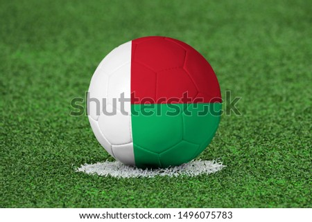 Flag of Madagascar on Football Madagascar Flag on soccer ball
