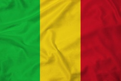 Flag of Mali with texture